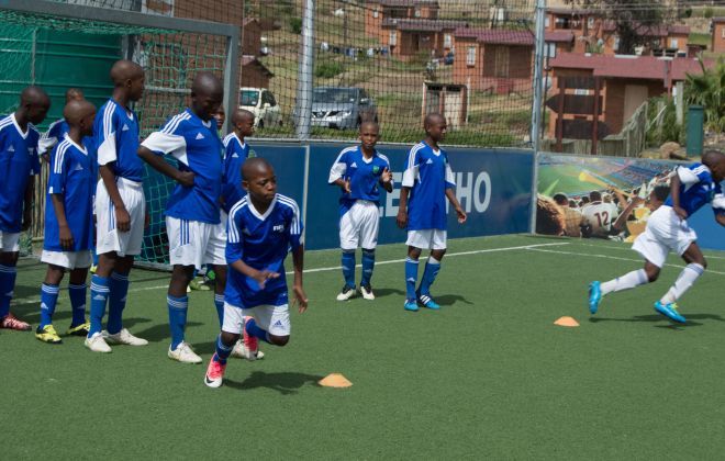 K4L teams in Lesotho Easter Youth Tournament