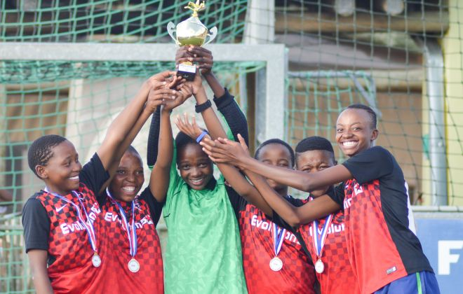 Kick4Life Ladies youth team clinch trophy