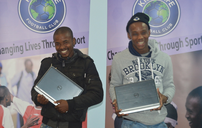Laptops donated by Arup for Academy students